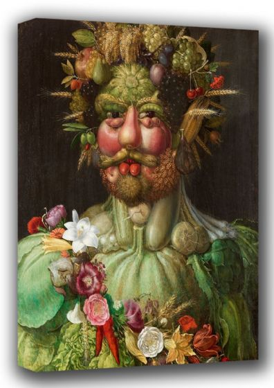 Arcimboldo, Giuseppe: Vortumnus (Vertumnus - The God of Seasons). Fine Art Canvas. Sizes: A4/A3/A2/A1 (001269)